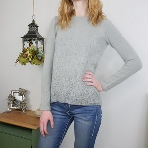 The Limited Soft Shimmer Metallic Winter Sweater